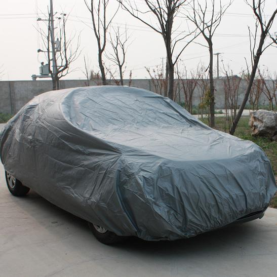 Grey car covers on the trip