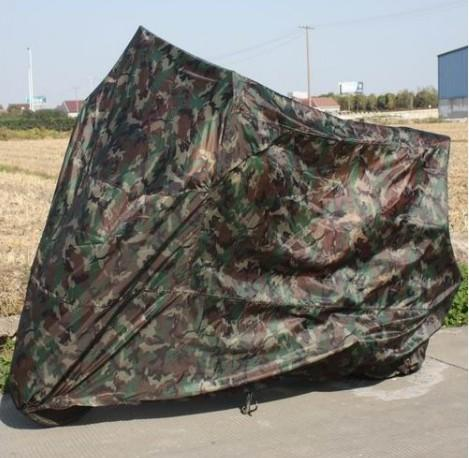 Camo Motorcycle covers on the trip