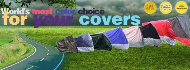 Colorful Motorcycle covers on the trip