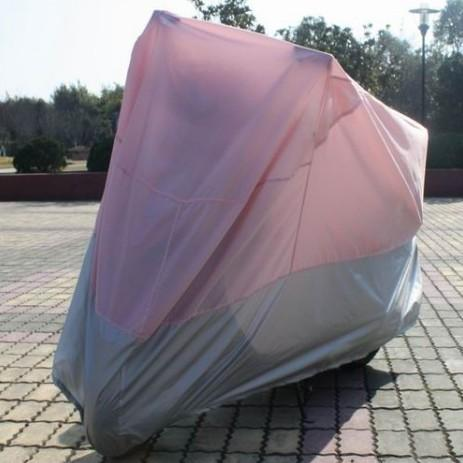 Pink Motorcycle covers on the trip