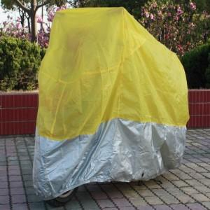 Yellow Motorcycle covers on the trip