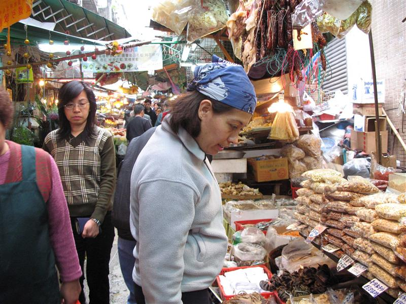 Classic mexican tourist in a Hong Kong market
