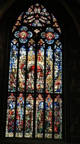 Stained glass at a Cathedral in Liege
