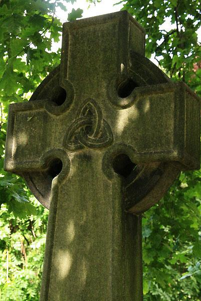 Celtic Cross gravestone in Dean Cemetary