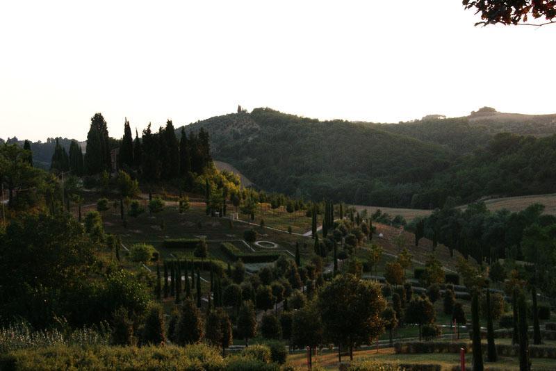 First view of the  Bosco Della Ragnia, a garden in the area