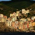 View of Riomaggiore from the Mediterranean
