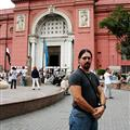 James outside the Egypt Museum