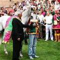 Drago's race horse being blessed