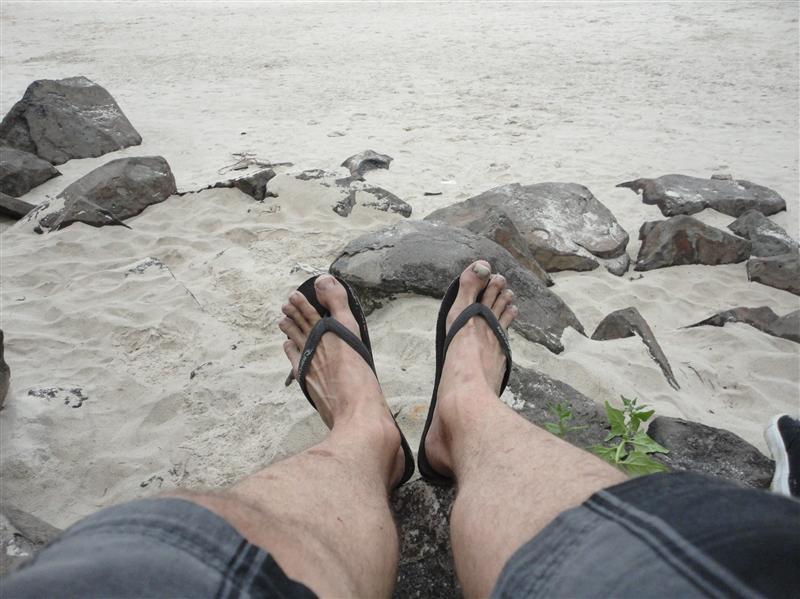 Les doigts de pied en eventail