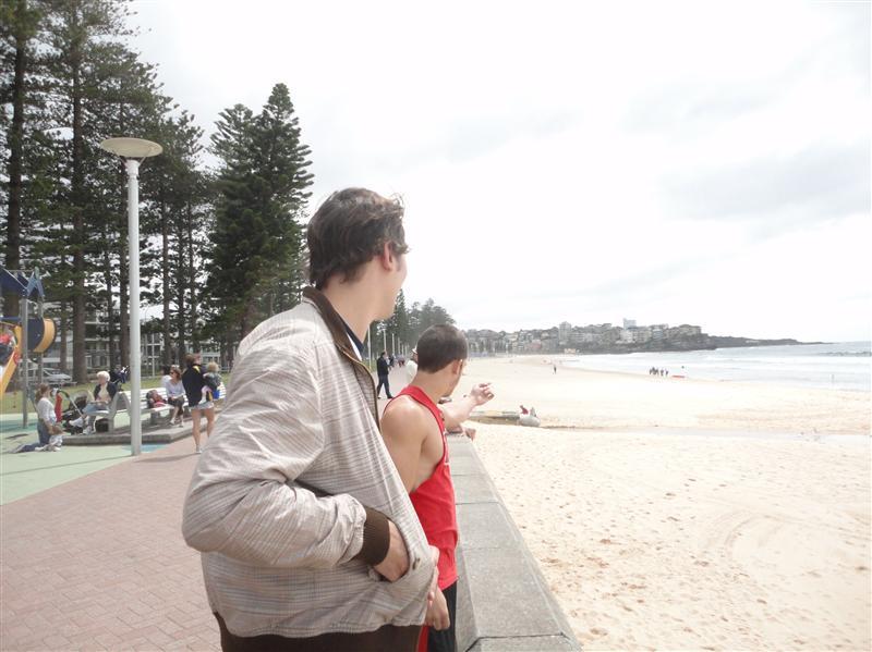 Manly Beach avec les americains