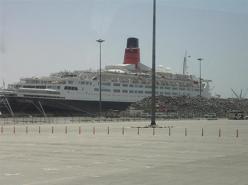 QE2 docked in Dubai to be a hotel