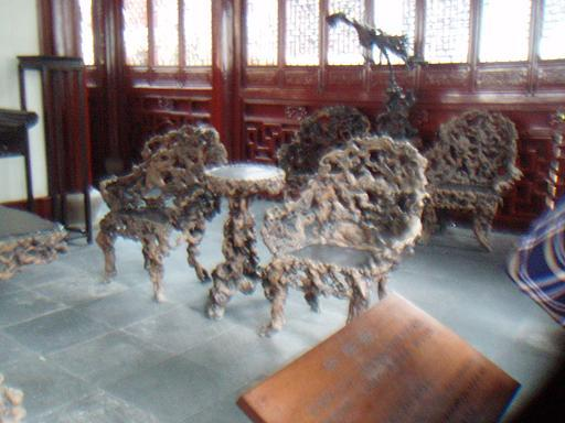 Chairs made from banyan root