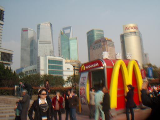 The ubiquitous McDonald's at the river's edge