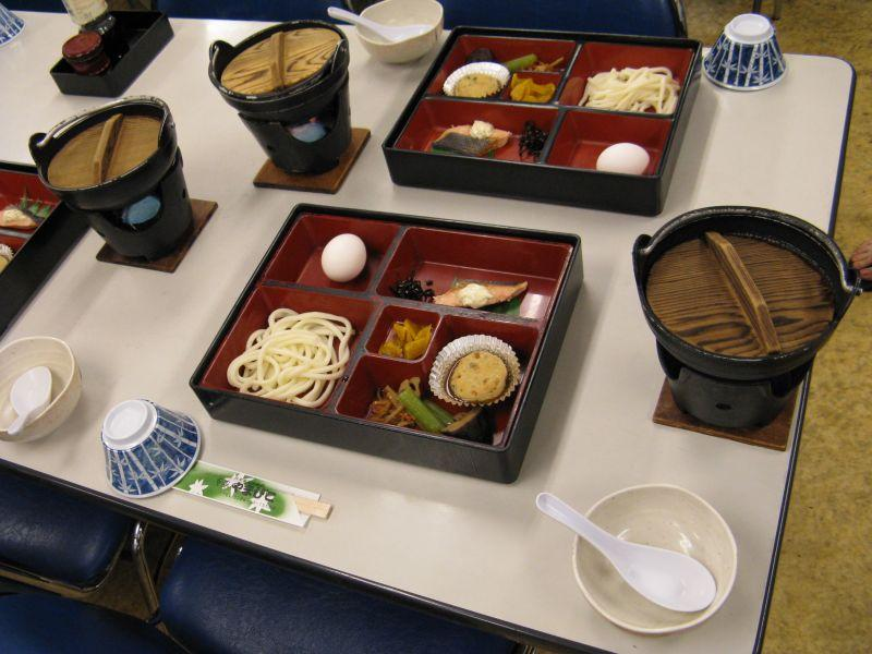 Our first lunch in Japan