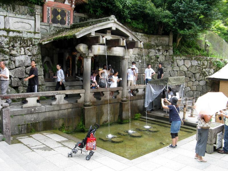 Tasting from the waterfall Otowa no taki