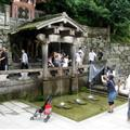 Tasting from the waterfall Otowa no taki