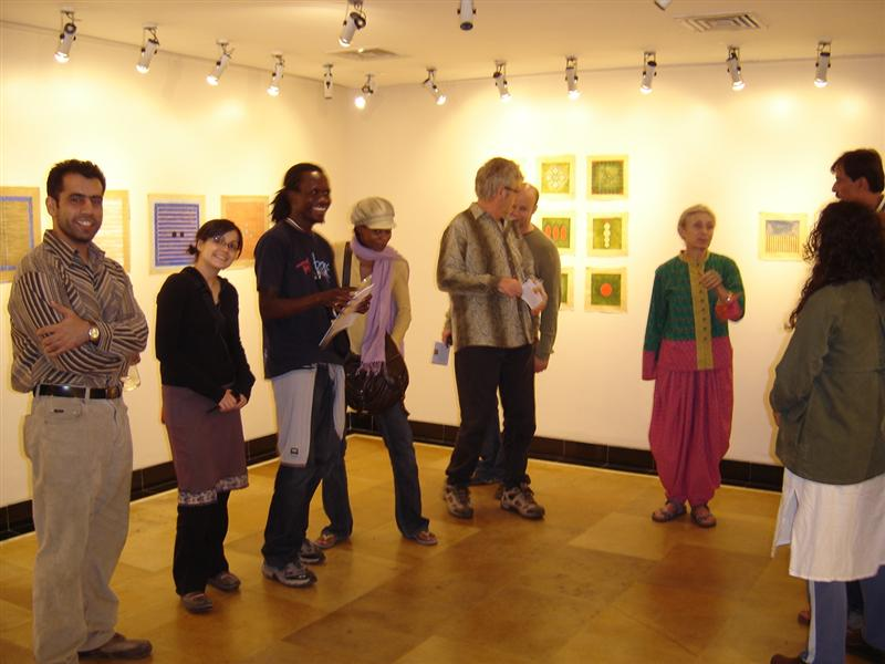 The Exhibition at the Habitat Centre Left- Dharma, Maria, Nataniel, Pamela, Eric, John, The Artist, Sunil, Paly