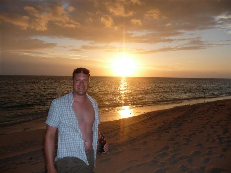 Me @ sunset Beachcomber Island
