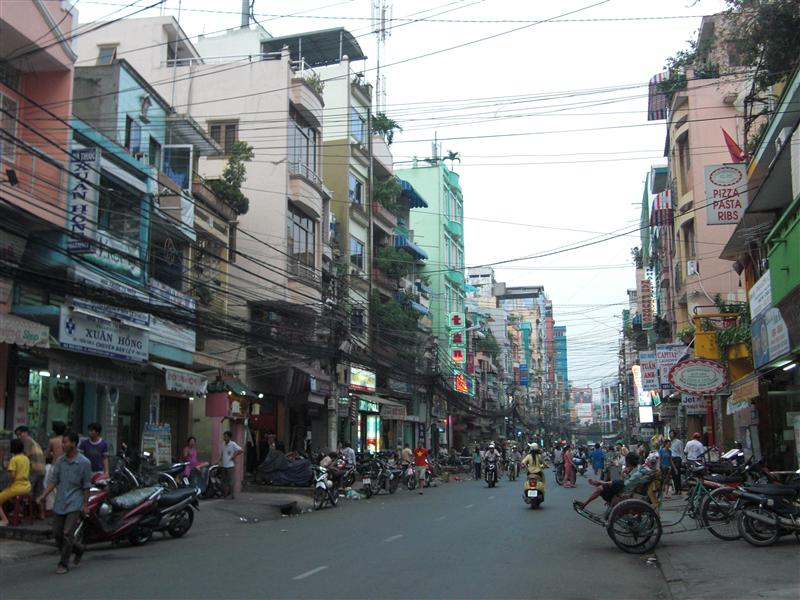 Calles de colores en Saigón