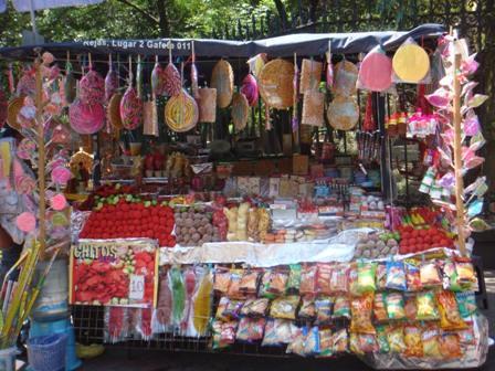 puestos de dulces del Bosque de Chapultepec