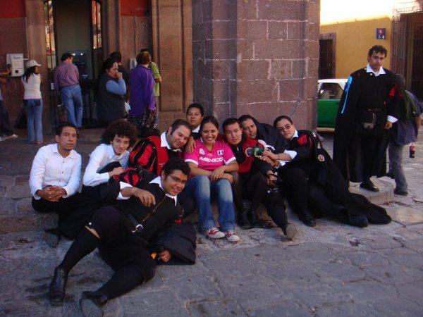 con la estudiantina en San Miguel de Allende