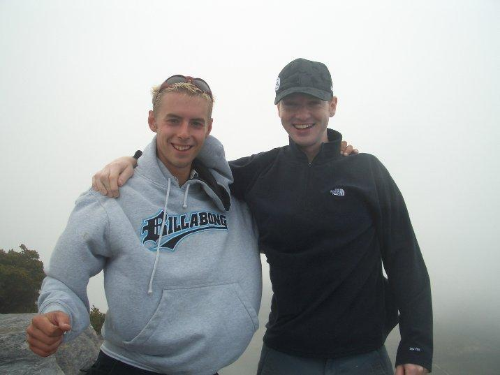 Me and Bobby at the top