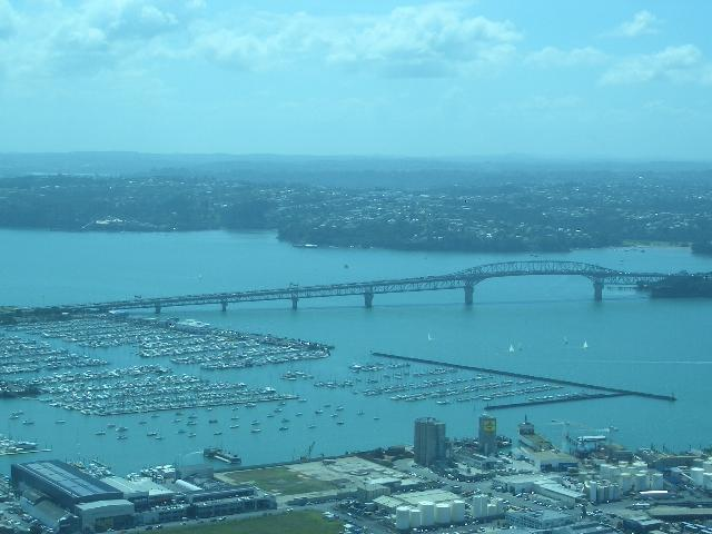 The Auckland Harbour Bridge (that I climbed)