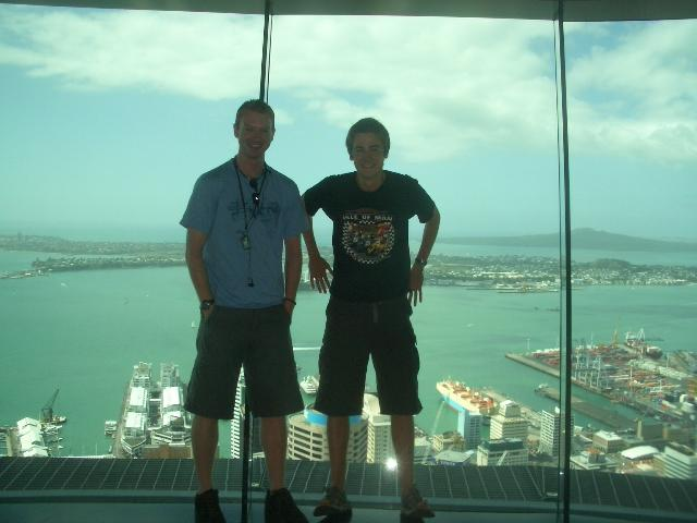 Me & James at the top of the Sky Tower