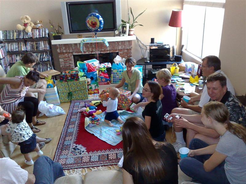 1st birthday fam gather