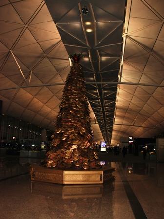 Xmas tree at Hong Kong Int'l