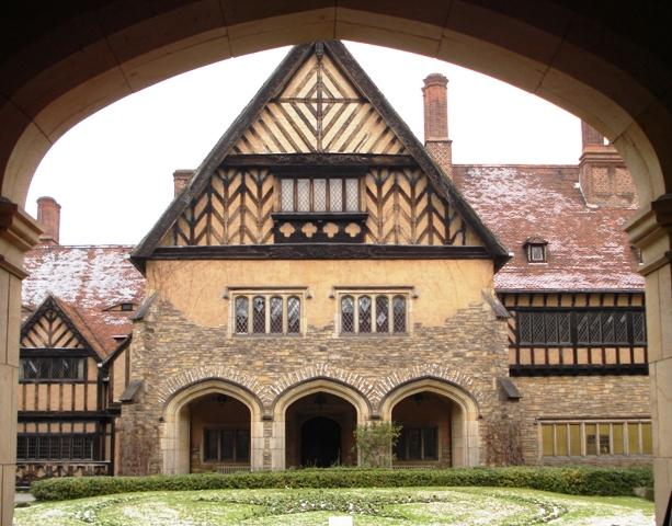The Cecilienhof Palace is known for the Potsdam Conference negotions that took place here