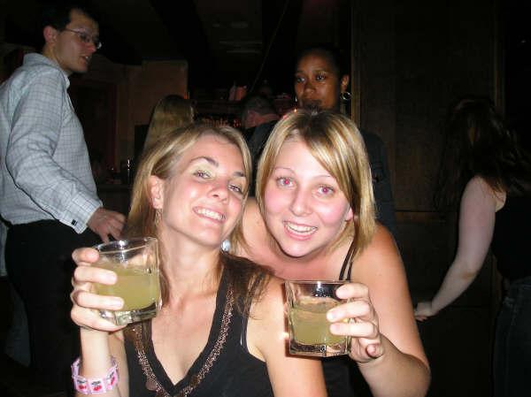Helen and Me with our Vodka/Pineapples