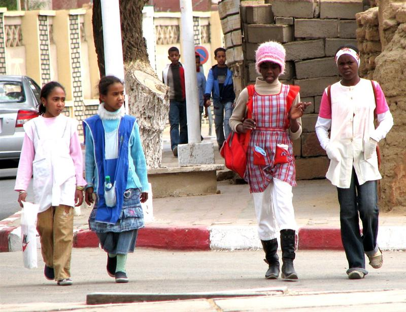 Kids headed to school