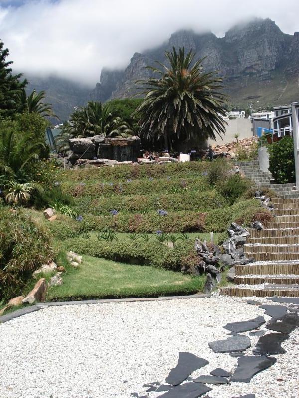 The garden at the Cascades