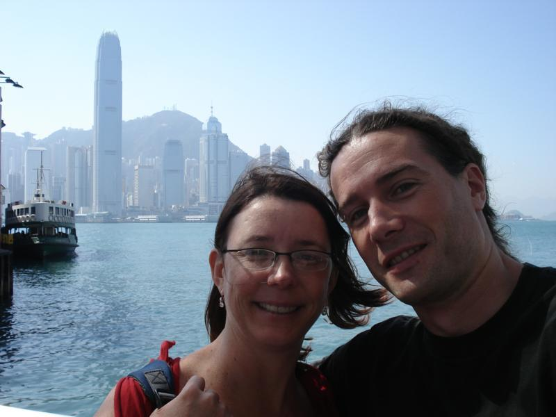 Me and Joanne at the Star Ferry Pier