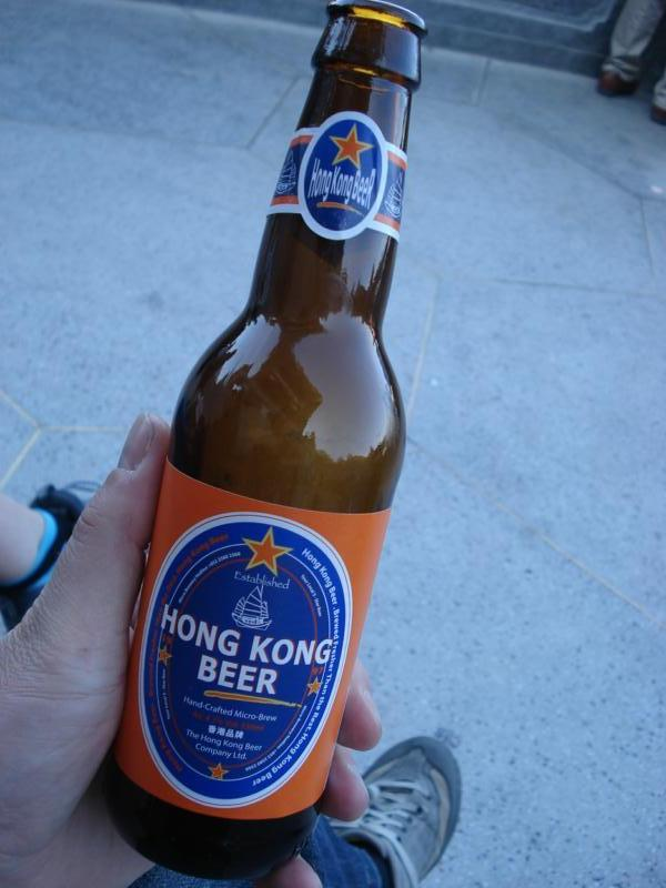 Nice microbrewed beer (available in the Hong Kong Brew House)