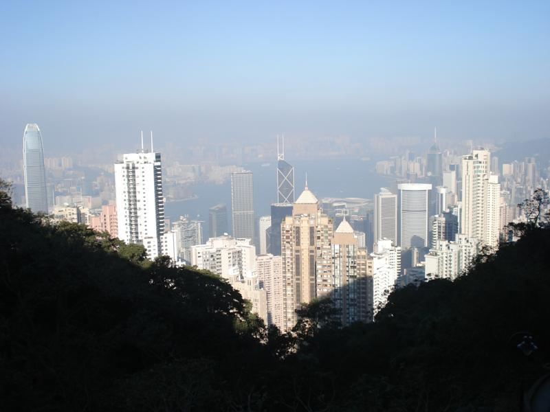 View on the way down from The Peak