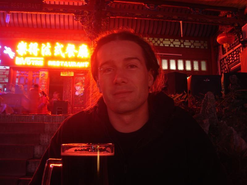 Me drinking some nice dark beer