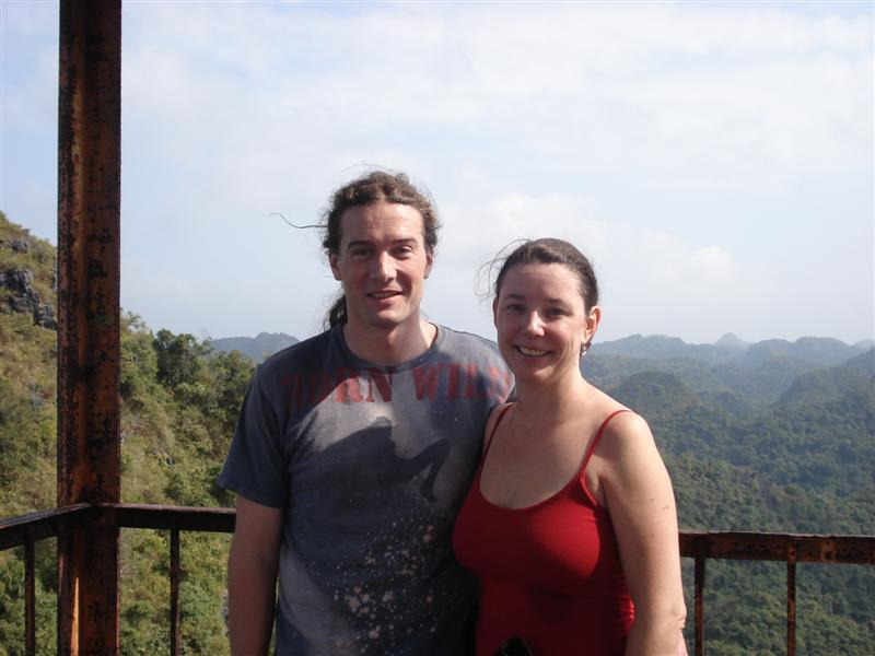 Us at the top of Cat Ba Island