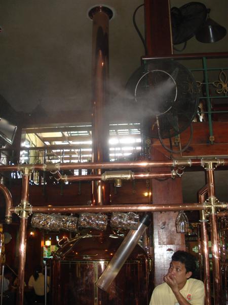 Air-conditioning in german bier halle