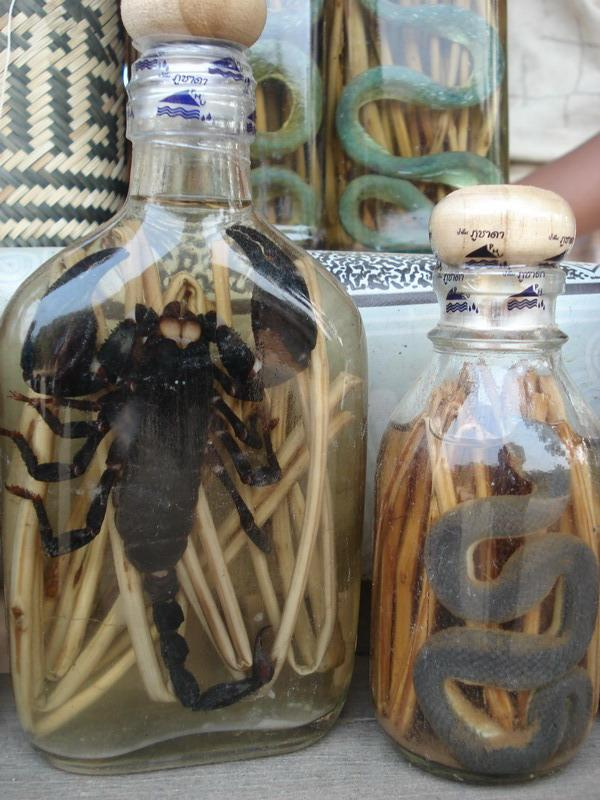 Scorpion and snake wine