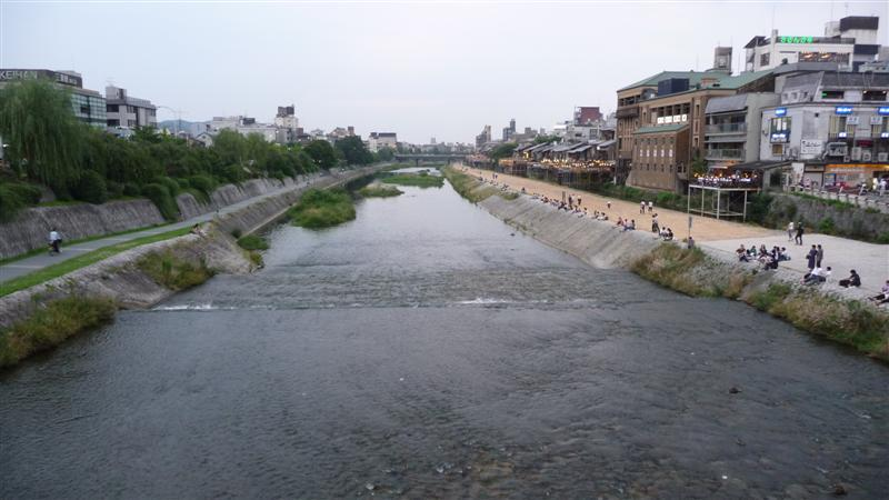 "The ""lovely"" river in Gion"