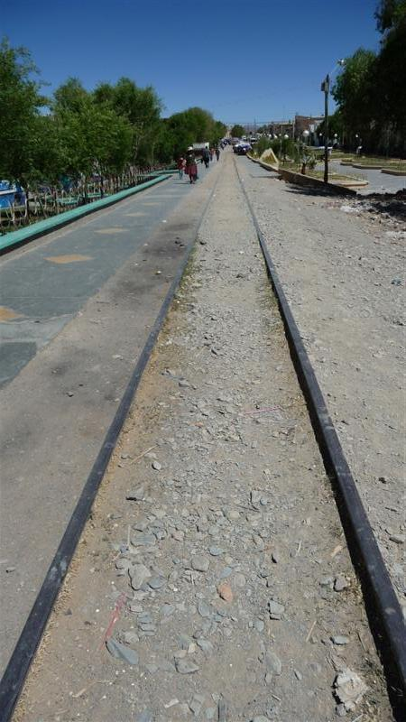 The disused railway into Argentina