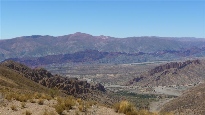 Dry stripey mountains