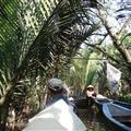 Traffic jam on the Mekong Detla