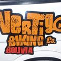The company logo on the van