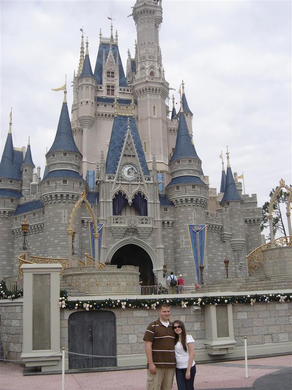 Nick & Lollie at Cinderella's Castle