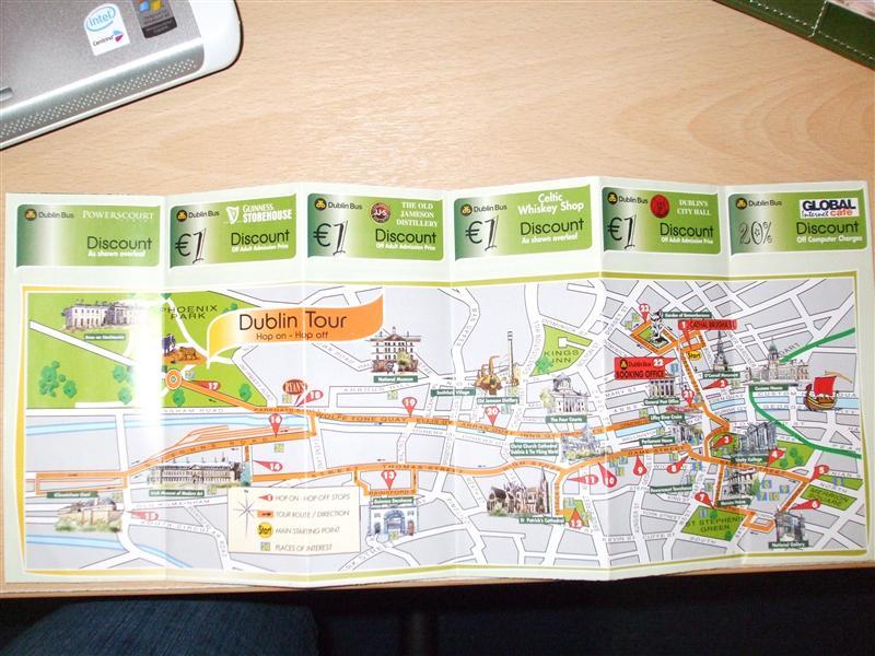 Dublin Bus Tour Map