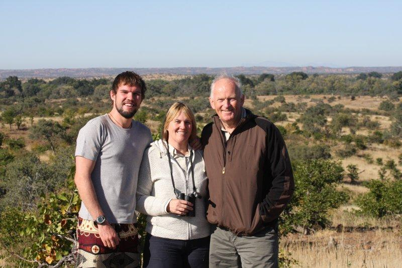 Three Happy Safari Goers