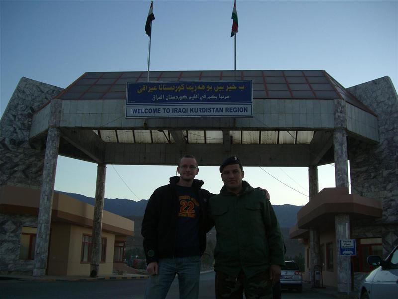 Me at the Iraqi border.